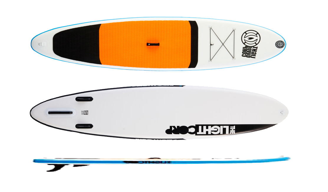 Доска SUP надувная Light RS Silver Allround (ORANGE WHITE)